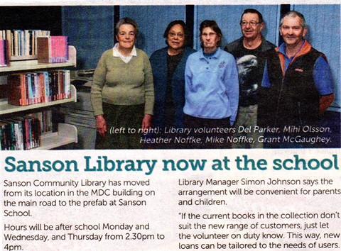 sanson-ommunity-library news
